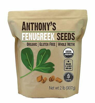 Organic Fenugreek Seeds (2lb) by Anthony's, Whole Methi Seeds, Non-GMO & Ver