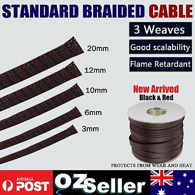 Industrial Grade PET Expandable Braided Wire Cable Sleeving Orangize Protect