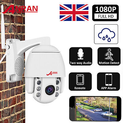 Wireless 4X Zoom Outdoor CCTV PTZ HD 1080P WIFI IP Camera Dome Security IR Audio