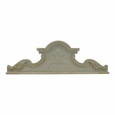 American Mercantile Wooden Decorative Arched Scroll Wall Accent, White