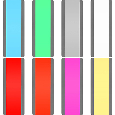 16 Pieces Guided Reading Strips Colored Overlays Highlight Plastic Reading for 8