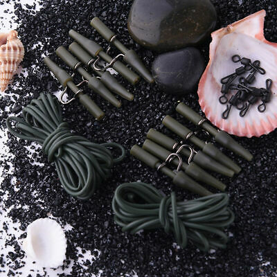 30pc Carp Fishing End Tackle Safety Lead Clip Set With Quick Change Swivels Rigs