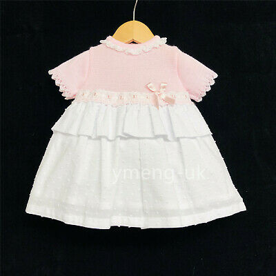 *SALE* Gorgeous Baby Girl Pink Spanish Knit Top Dress High Up Romany