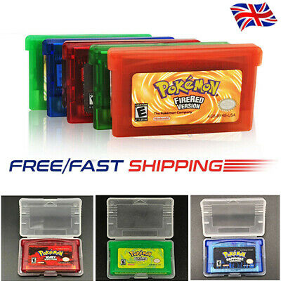 Pokemon Fire Red Leaf Green Emerald Ruby Sapphire Nintendo Gameboy GBA Advance