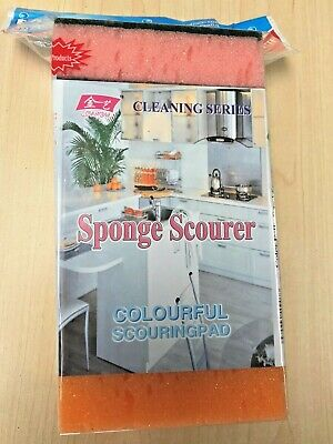 High Quality Scouring Sponges  - 6 Pack Scourers - Kitchen Sponge Cleaning