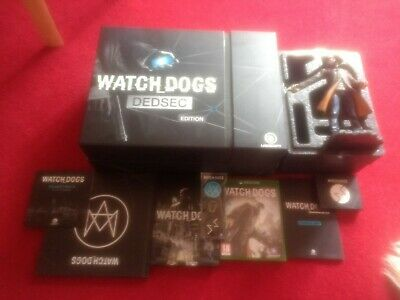 Xbox One Watch Dogs Dedsec Edition Inc statue very rare complete