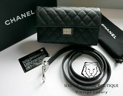 31f36339aa30 Chanel Uniform Black Caviar Mini Waist Bag Belt Bum Bag Clutch Bnwt Full Set