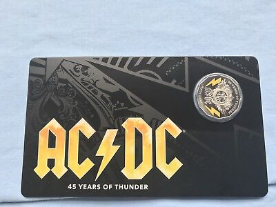 2018 50c Uncirculated Coin AC/DC 45 Years Of Thunder