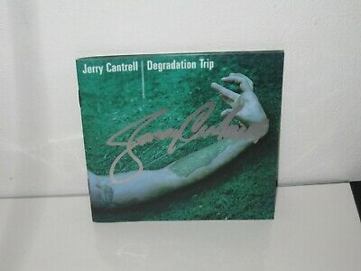 Jerry Cantrell Signed Degradation Trip Alice In Chains Cd Autograph Proof