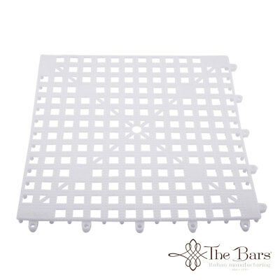 Bar Mat Coasters for bar Interlocking Colour Opal White