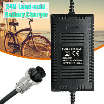DC24V 2A Lead-acid Battery Charger Wide Pressure For Electric Bicycle Modified