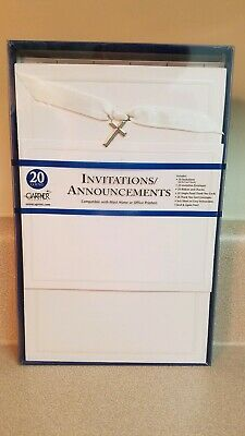 Gartner Religious Cross Invitations Kit 20Ct Classy Elegant Simple