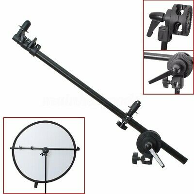 175cm Collapsible Studio Reflector Holder Boom Arm Grip Photo Light Stand UK !