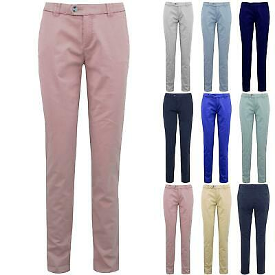 Ladies Womens CHINO Skinny Slim Fitted Pockets Stretchy Fit Casual Trouser Pants