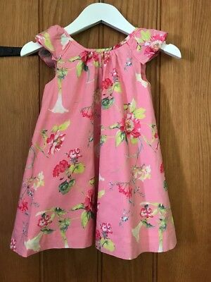 Gap Lovely Girls Pink Floral Dress Age 2yrs 100% Cotton Excellent Condition