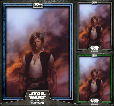 Topps Star Wars Card Trader Illustrated 2019 W3 Week #5 Han Solo Blue/Gray/Green