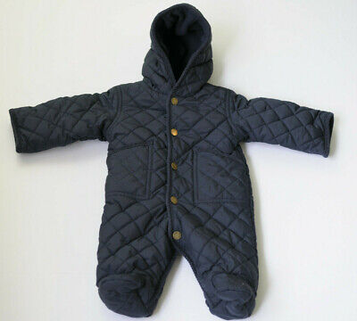 ae81497d4 Ralph Lauren Infant Baby Boys Snowsuit Bunting Quilted Navy Blue Size 3  Months