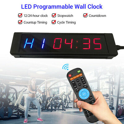 Programmable Interval Timer Clock Stopwatch Digital Fitness Tabata Crossfit Yoga