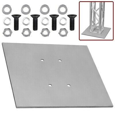 "8"" x 8"" Aluminum Truss Base Plate Light Duty Trussing Stand Square Stage Light"