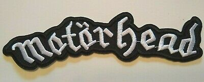 "Motorhead England Embroidered Applique Patch~5 7/8"" x 1 1/2""~Iron or Sew On"