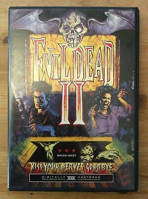 Evil Dead 2, 1987 Bruce Campbell (DVD, Widescreen, Anchor Bay Release) *No Tax*