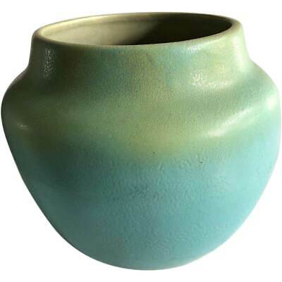 American Van Briggle Art and Crafts Pottery Matte Green Vase 1905