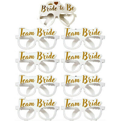 8,16 or 24 TEAM BRIDE BRIDE TO BE GLASSES HEN NIGHT PARTY DO FANCY DRESS FAVOURS