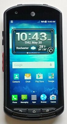 VERY GOOD USED Working Black Kyocera DuraForce E6560 AT&T