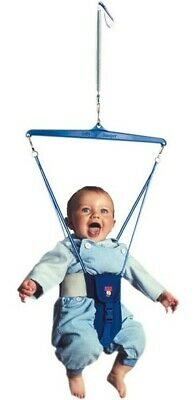 Jolly Jumper Bouncer Deluxe With Foot Rattles - Blue