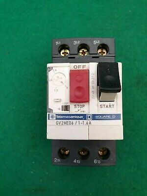 1 NEW TELEMECANIQUE GV2ME02 Motor Circuit Breakers 0.16 to 0.25 amp  QTY