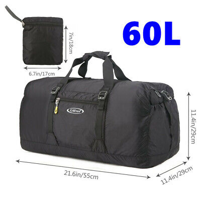 66b0b13cee 60L Portable Duffle Bag Waterpoof Foldable Travel Shoulder Luggage Baggage  Gym