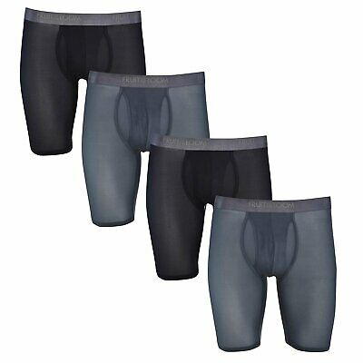 Fruit of the Loom Men's 4-Pack Everlight Boxer Briefs Breathable Sizes M, L, XL