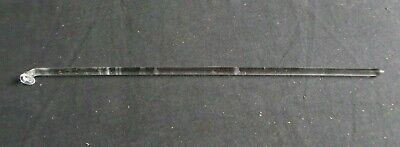 "Button Type 15 1/8"" Polished Glass Stirring Shaft Bar, 384mm x 8mm"