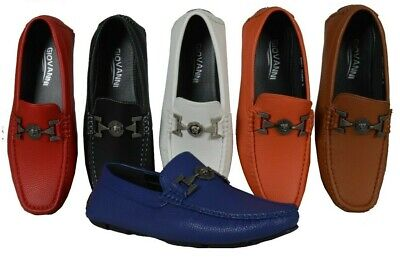 84e552ccaf6 MEN'S GIOVANNI DRESS Shoes Loafer Casual Italian Slip-On Solid Moccasin  M9801