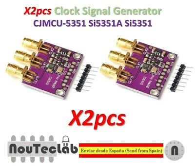 SI5351 A CLOCK GENERATOR for ARDUINO or other MCU with 3 3/5V I2C