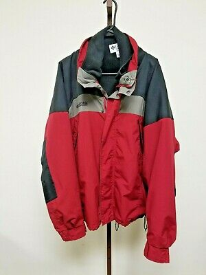 59aa372e279 Mens COLUMBIA Boulder Ridge Jacket with Jacket Liner Black/Grey/Red Sz XL