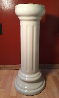 "Vintage Incepe Porcelain Sink Pedestal Made in Brazil 26"" tall #2662 signed bath"