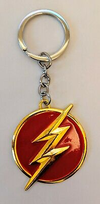 DC Comics The Flash TV Show Metal Enamel Novelty Keyring Keychain Gift Bag