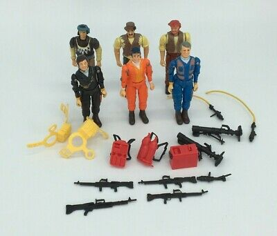 VINTAGE 1983 GALOOB A TEAM  FIGURES AND PARTS, FACE, HANNiBAL, PARTS, WEAPONS