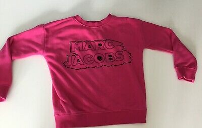Little Marc Jacobs Girls Pink Jumper Sweater Long Sleeve Age 6 Years In Vgc