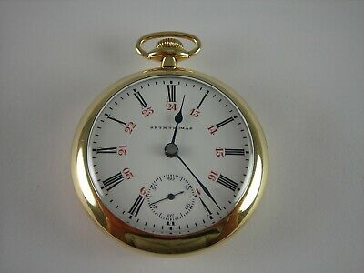 Antique 18s Seth Thomas two tone 17 jewel High grade pocket watch. Gold filled