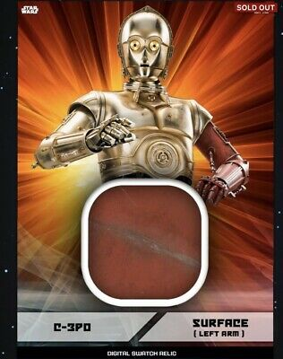 Topps Star Wars Card Trader ~DIGITAL Swatch Relic~SURFACE LEFT ARM~C-3PO~DIGITAL