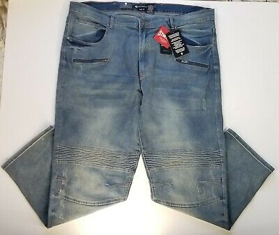 781bd7db Rocawear Men's Jeans NWT Classic Fit 44X32 Medium Wash Distressed Big & Tall