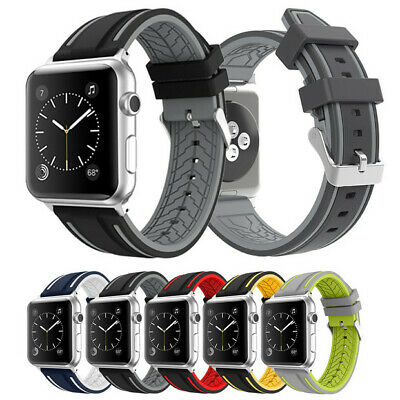 Replacement Sports Silicone Watch Bands Strap For Apple iWatch 1 2 3 38mm 42mm