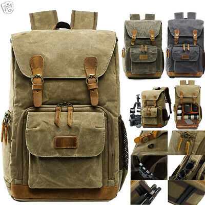 Hot Premium Vintage Photography Backpack Waterproof Photography Canvas Bag