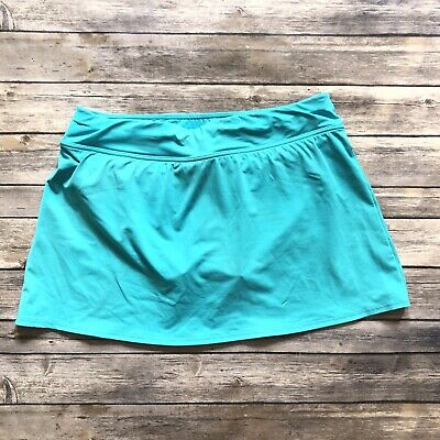 c115ea9fa9 Lands End Women 8 Medium Turquoise Blue Bathing Suit Swim Skirt Bikini  Bottom