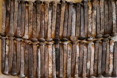 "60 Vintage Railroad Spikes,6 1/2"" Most HC, Heavily Rusted, Few Bent, (GREAT $) ."