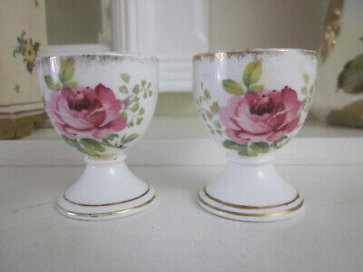 A Pair Of Vintage Royal Albert American Beauty Eggcups Egg Cups