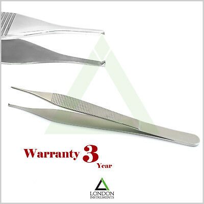 Adson Kocher Tweezers Dressing Tissue  Pliers 12 cm Dental Instruments Lab