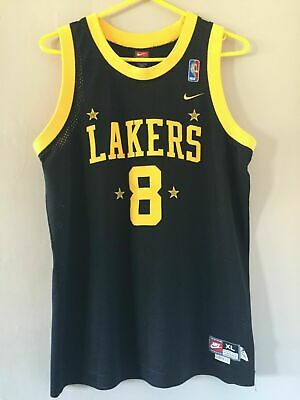 101609c792e NBA YOUTH Swingman Kobe Bryant Los Angeles Lakers Jersey Nike Rewind XL  Black #8